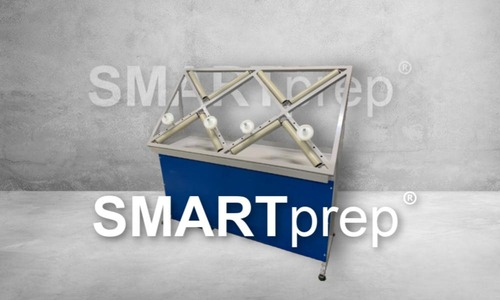 SMARTprep alloy wheel repair work station