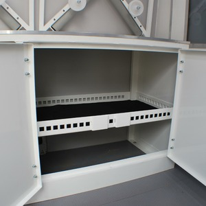 Large aluminium storage cupboard