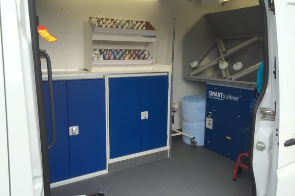 Interior view of SMART repair van